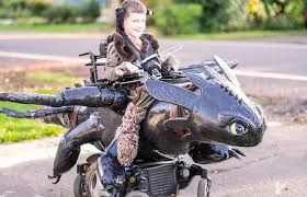 Halloween Motorcycle Costume Dad U0027s Awesome Nonprofit Builds Wheelchair Based Halloween Costumes