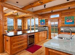 log cabin open floor plans were used define interior spaces maintain open floor plan building