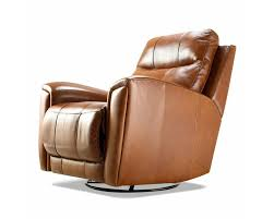Reclining Leather Armchairs American Made Reclining Swivel Leather Chairs Clp103