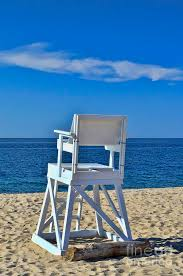 lifeguard chair photograph by allen beatty