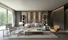 WAN INTERIORS Residential PARK RESIDENCE 室内设计 Pinterest - Modern interior design of living room