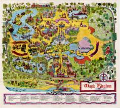 magic kingdom disney map 1971 original walt disney magic kingdom map inacents com