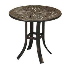 Commercial Outdoor Tables Steel Round Patio Tables Patio Furniture The Home Depot