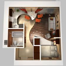 one bedroom house plans 3d google search espacios pinterest