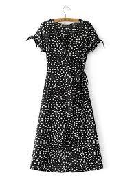 women u0027s deep v neck polka dot dress achicgirl com