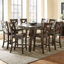 steve silver company crosspointe 9 piece counter height dining set