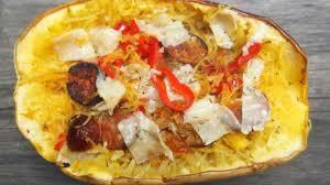 cuisiner poivron courge spaghetti au chorizo et au poivron recette par