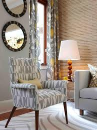 Blue And White Accent Chair Living Room Oversized Chair And Ottoman With Blue Print Accent
