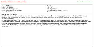 layer out cover letter