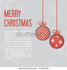 Christmas Light Template Christmas Horizontal Banner Gifts Decorations Flat Stock Vector