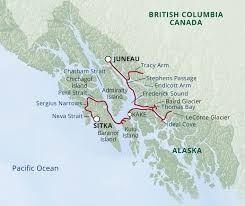 Alaska Route Map by Alaska U0027s Glaciers And Whales Uncruise Adventures