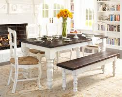 White Distressed Dining Room Table Shabby Chic Dining Table Etsy