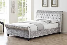 Crushed Velvet Bed Trevors Second Hand Furniture