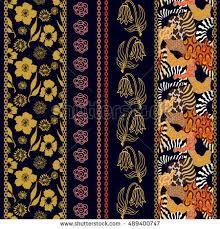 art deco silk wallpaper bohemian elements stock vector 489400747