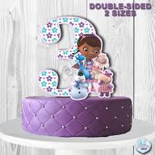 doc mcstuffins cupcake toppers doc mcstuffins cake topper number 3 doc mcstuffins
