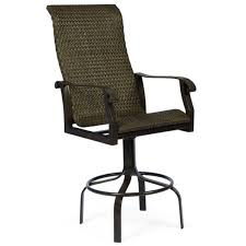 Swivel Outdoor Patio Chairs Gorgeous Outdoor Swivel Bar Stool Cortland Woven Swivel Bar Stool