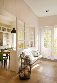Kitchen Half Wall Ideas Half Glass Wall Between Kitchen U0026 Entry Lets Light In While