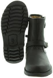 motorcycle boots australia ugg kids harwell biker boots in black in black