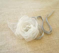 Wedding Wrist Corsage Wrist Corsage Bridal Flower Bouquet Alternative White Organza