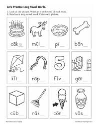 literacy worksheets for kindergarten rhyming color sheets for