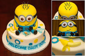 minion baby shower decorations baby shower cakes baby shower cake los angel