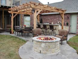 Firepit Brick Furniture Traditional Patio Breathtaking Outdoor Brick Pit