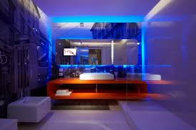 Under The Cabinet Lights by Amazing Small Bathroom Design With Blue Led Lights Decors