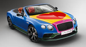 the bentley continental gt v8 bentley continental gt v8 s convertible gets pop art treatment by