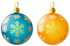 large size transparent yellow and blue christmas ball ornaments