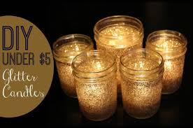 diy under 5 festive glitter candles youtube