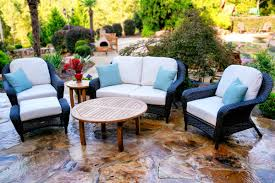 Patio Chair With Ottoman Set Sea Pines 6pc Deep Seating Outdoor Patio Furniture