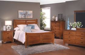 surprising look with solid maple bedroom furniture amish bedroom shocking design ideas using rectangular brown wooden headboard beds in white comforter also with rectangular grey
