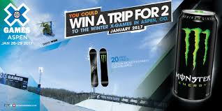 monster energy jeep win a trip for 2 to winter x games