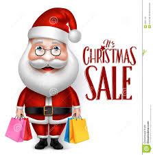realistische santa claus cartoon character holding shopping zakken