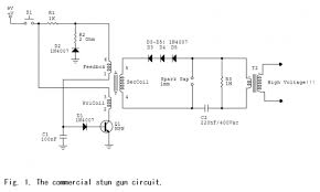 this is a diy simple stun gun circuit schematic energy spiking