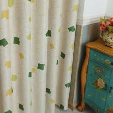 Boutique Curtains 1pc 135cm 250cm One Sided Box Printing Curtains For Livingroom