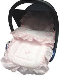 Well Wreapped Housse Maxi Cosi Frilly Broderie Anglaise Car Seat Footmuff Cosy Toes Maxi Cosi