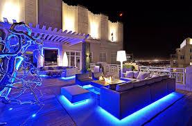 Hton Bay Solar Led Landscape Lights Rooftop Garden Design With Fireplace And Modern Lighting