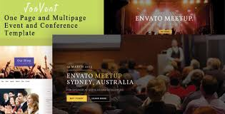 jonvent one page and multipage event and conference html