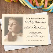 Holy Communion Invitation Cards Samples 10 Personalised 1st First Holy Communion Photo Invitations N16