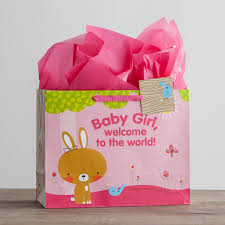 baby large gift bag with tissue dayspring