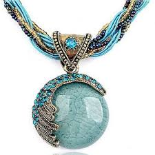 crystal necklace stone images Reiki ball crystal lucky divination stone necklace atperrys jpg