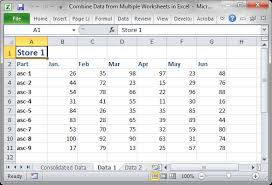 combine data from multiple worksheets in excel teachexcel com
