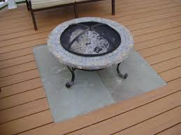 How To Use A Firepit Pit Safe For Trex Deck Deck Design And Ideas