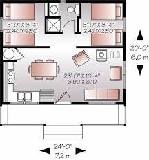 guest house floor plans 20x24 u0027 floor plan w 2 bedrooms floor plans pinterest