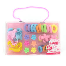 children s hair accessories 40pc kids childrens hair accessories set bobbles flower