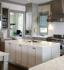 ideas modern kitchen with two tone kitchen cabinets and amerock