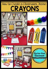 theme classroom decor crayons themed classroom ideas printable classroom decorations