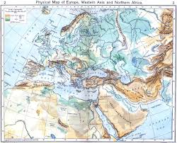 Map Of Europe And Asia by Physical Map Of Europe Western Asia And Northern Africa