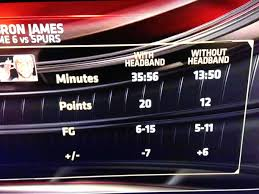 Lebron Headband Meme - espn comparing the stats of lebron with and without the headband nba